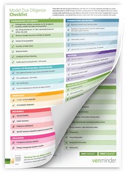 Vendor Management Model Due Diligence Checklist for Banks or Credit Unions