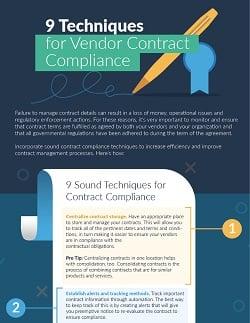 vendor contract compliance techniques