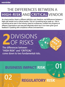 differences between high risk and critical vendor