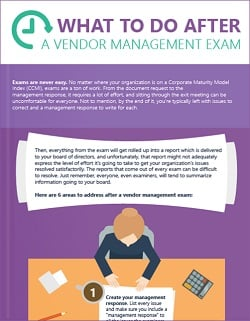 vendor management exam next steps