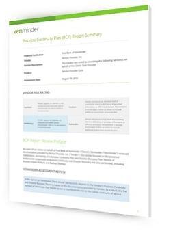 vendor business continuity plan review
