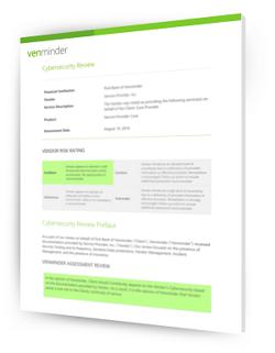 vendor cybersecurity analysis