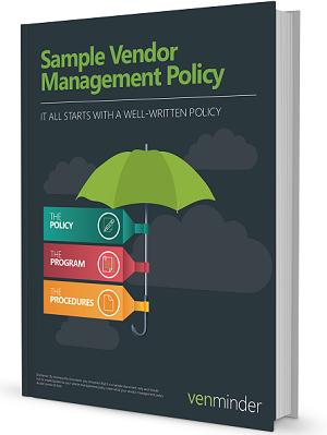 Bank cu sample vendor management policy sample for Vendor management program template