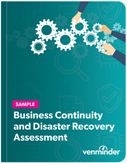 business continuity and disaster recovery assessment