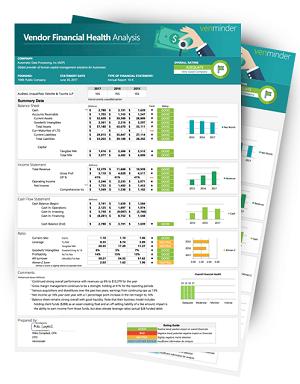 vendor financial analysis