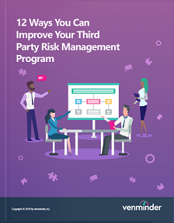 third party risk management program improvement
