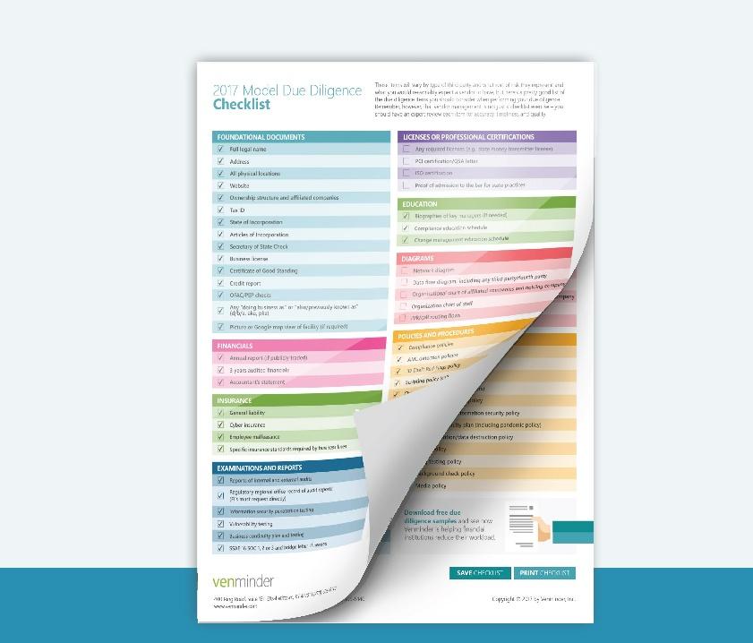 vendor due diligence checklist