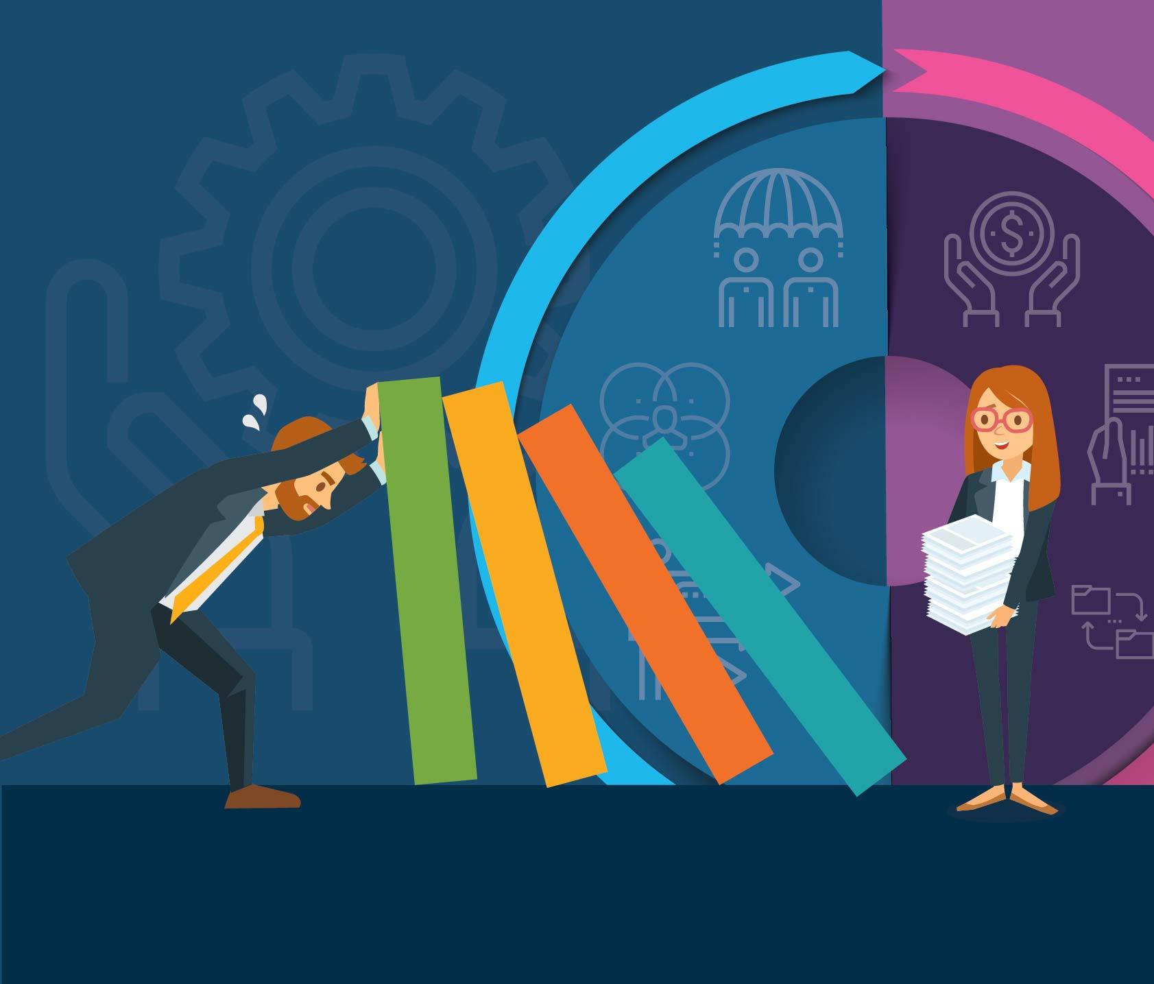 resources enterprise risk management vs vendor management infographic