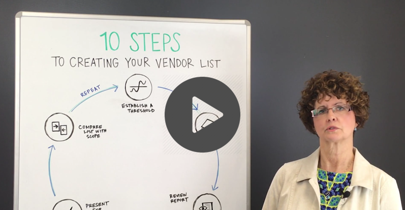 10 steps to create your vendor list