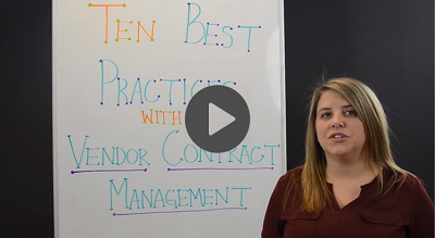 vendor contract management best practices