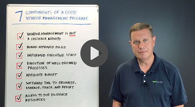 Third Party  Thursday 7 Key Components of a Good Vendor Management Program