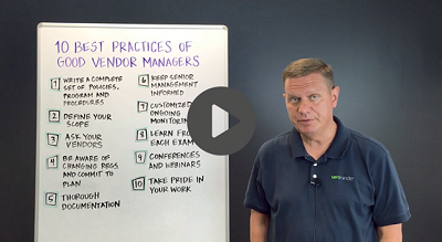 10 best practices of good vendor managers