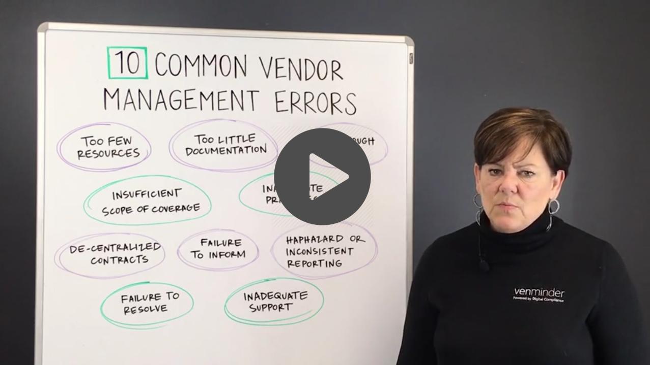 third party risk vendor management errors video