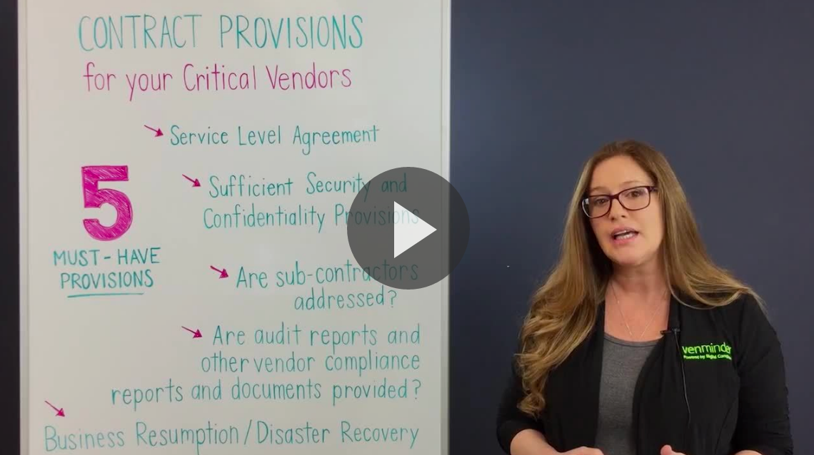Third Party Thursday Video 5 Key Provisions Bank Credit Union Critical Vendor Contract