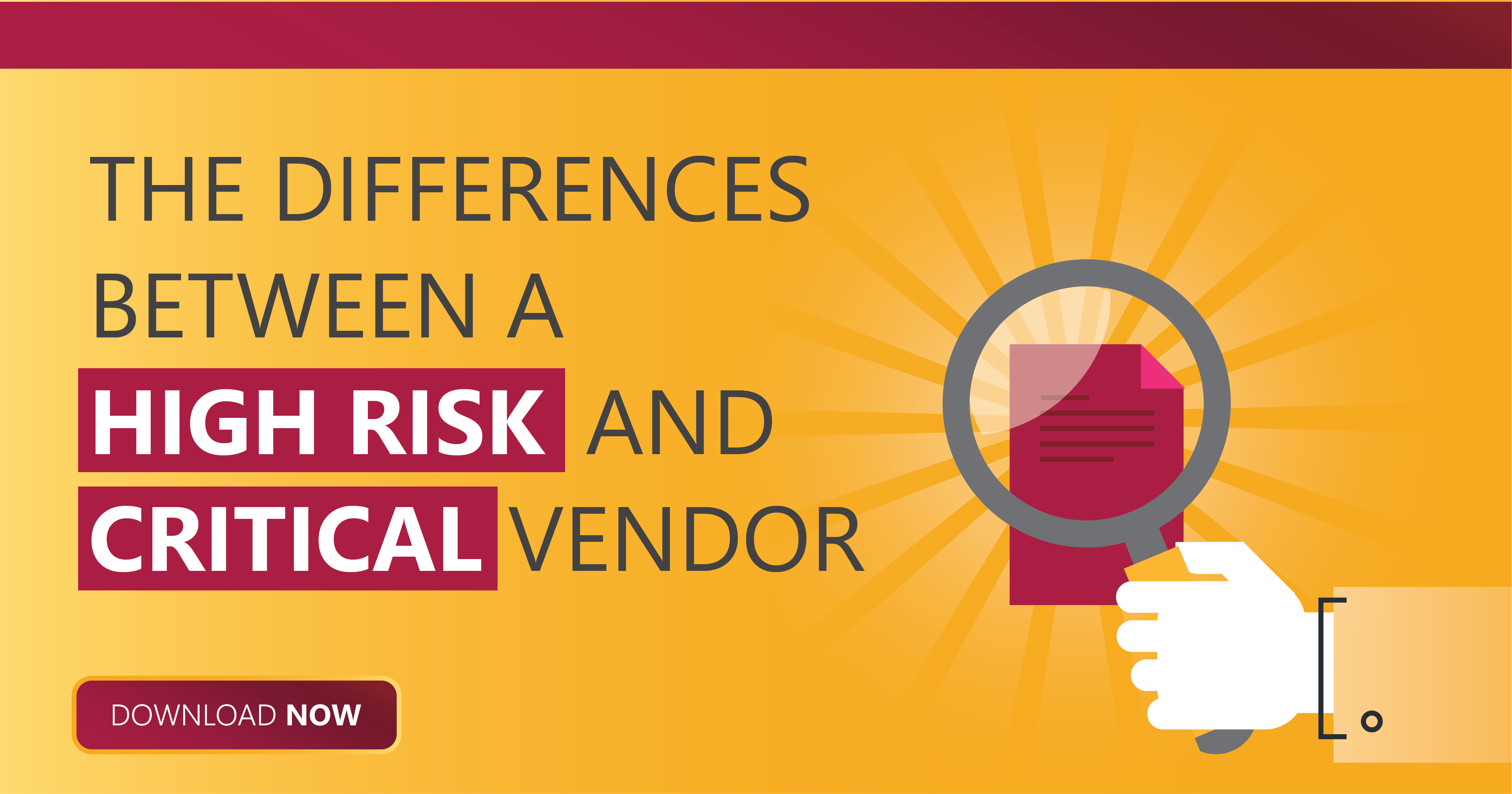 differences between a high risk vendor and critical risk vendor