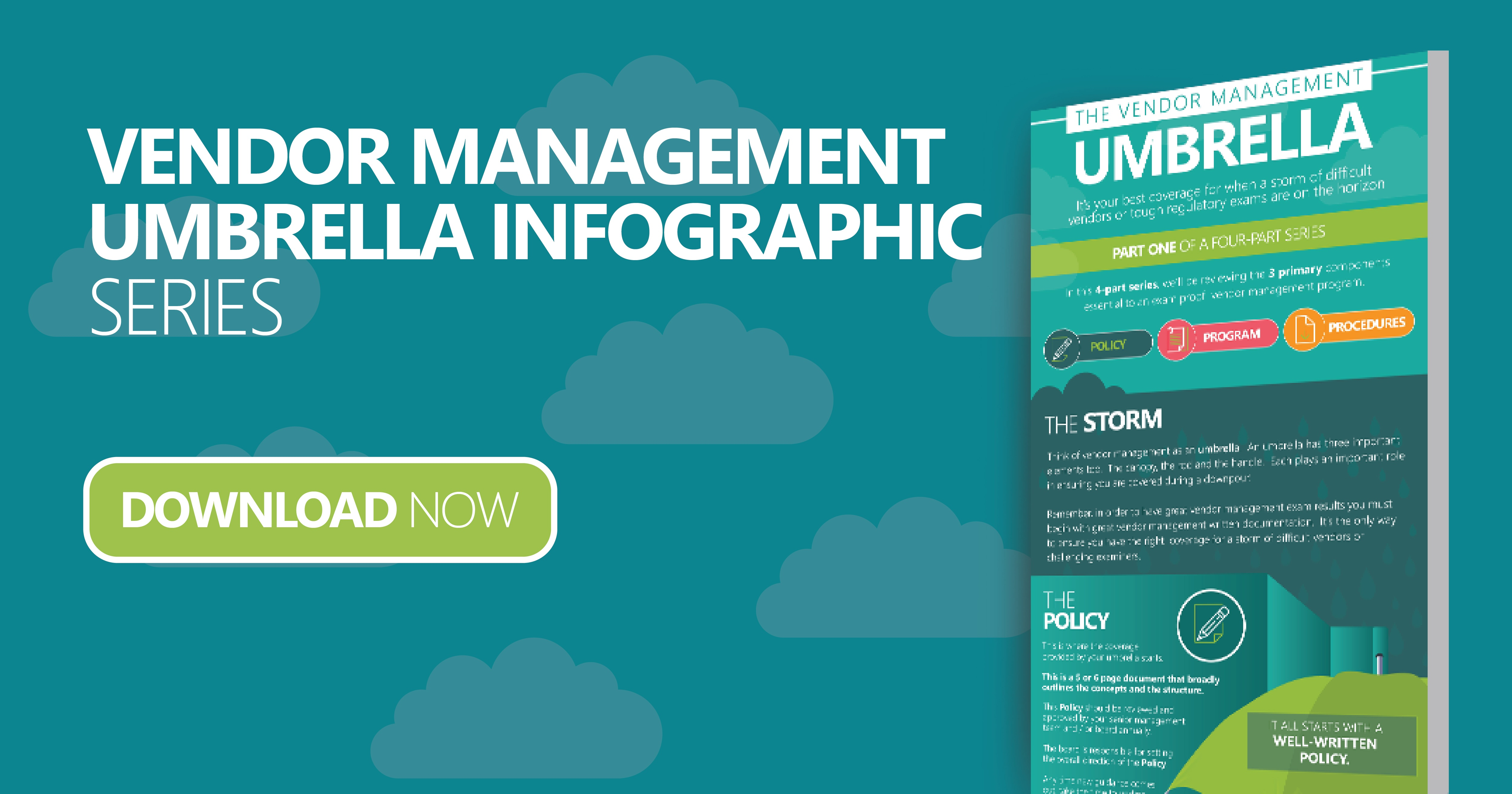 Vendor Management Policy Program Procedures Umbrella Infographic Series
