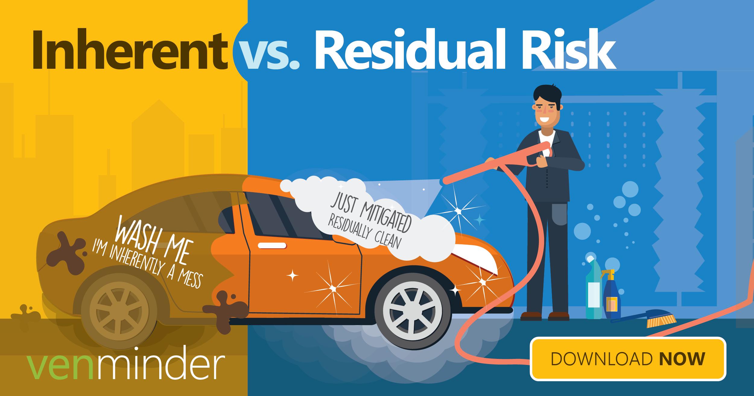 vendor management infographic  inherent risk vs  residual risk